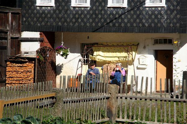 Immer mit der Ruhe - im Sonnenuhrendorf Taubenheim. (Man rolle das R).
